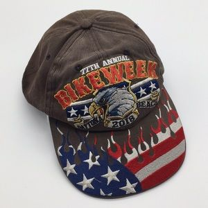 Daytona Beach Bike Week Flame Eagle Baseball Hat